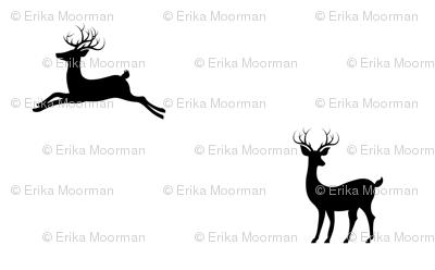 Deer 7 - Black white