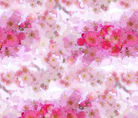 Sakura Blossom fabric by heckadoodledo on Spoonflower - custom fabric