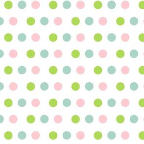 Deer - dotty dots  pink lime