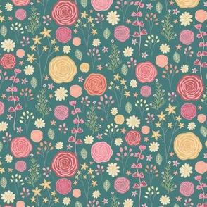 wildflowers-teal