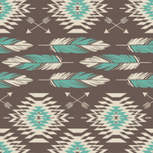 Native Roots-Brown & Turquoise