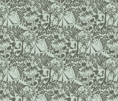 Forest_Camp_Spearmint fabric by phirefly_print on Spoonflower - custom fabric