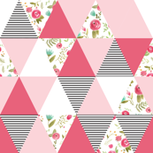 Happy Floral Triangles