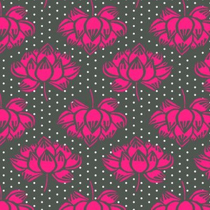 lotus // pink grey lotus flower koi garden coordinate yoga