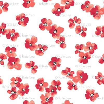 Red ditsy flower