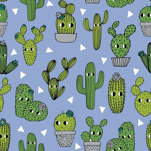 happy cactus // cacti blue desert summer cute kids