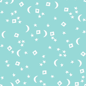night sky // stars and moon mint kids baby nursery