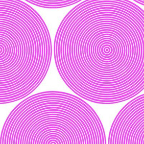 concentric circles - hot pink