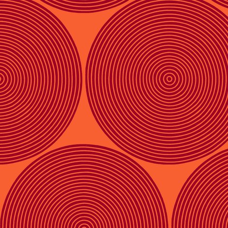 concentric circles - ruby on orange wallpaper - weavingmajor