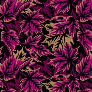 Leaves - Purple/beige