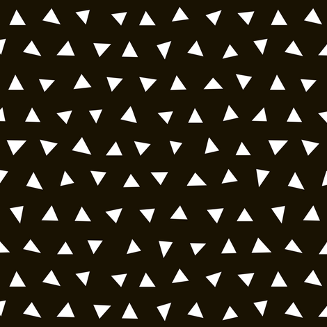 black and white triangles // tri triangles black and white nursery baby kids simple  fabric by andrea_lauren on Spoonflower - custom fabric