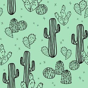 cactus // mint cactus cacti kids baby simple sweet trendy plants tropical summer