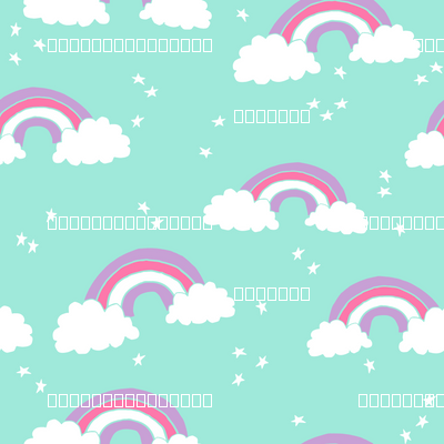 Rainbow Bright Mint Purple Pink Sweet Pastel Girly Cute