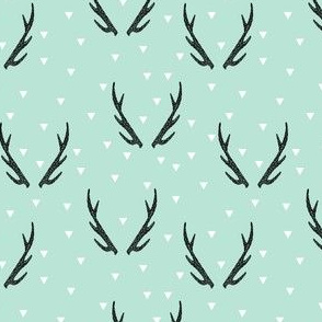 antlers // antlers deer mint triangles kids baby nursery triangles