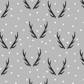 antlers // grey triangles geo geometric kids baby antler