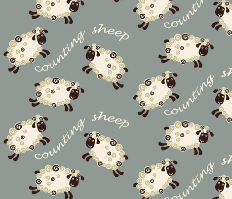 counting sheep fabric by diane_gilbert on Spoonflower - custom fabric