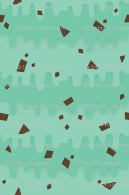 Melty Mint Chocolate Chip Fabric Creativefiasco