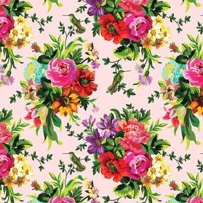 "4"" Floral Pop BIRD / Pink"