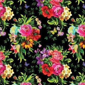 "4"" Floral Pop Mini - Black"