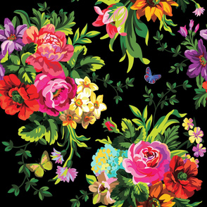 Floral Pop Large - Black
