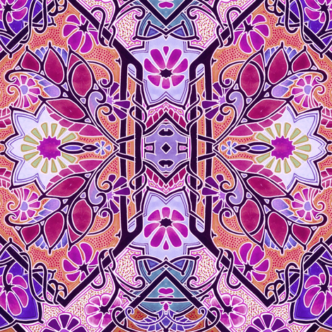 Woke Up It Was a Fuchsia Morning fabric by edsel2084 on Spoonflower - custom fabric