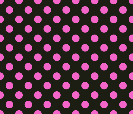 peony_dot_black_and_deep_pink_copy fabric by leroyj on Spoonflower - custom fabric