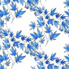 Blue Cherry blossom leaves