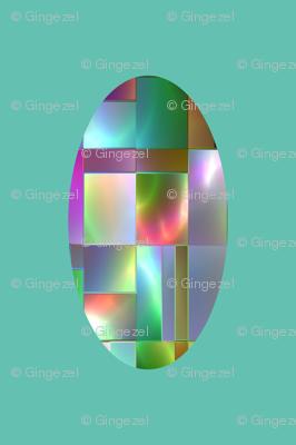 Oval Jewels on Aqua