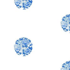 Japanese Spot Camellia cobalt blue