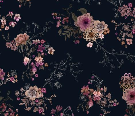 Japanese Boho Floral fabric by caseysaccomanno on Spoonflower - custom fabric