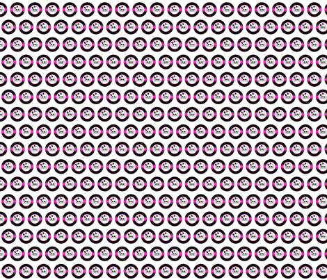 Circles Girly Skulls pink 3 fabric by darkrose on Spoonflower - custom fabric