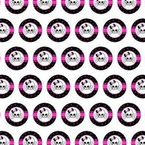 Circles Girly Skulls pink 3