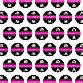 Circles Girly Skulls pink 5