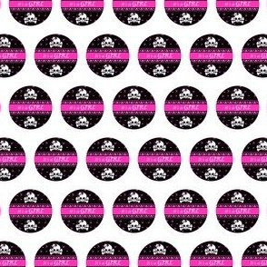 Circles Girly Skulls pink 7