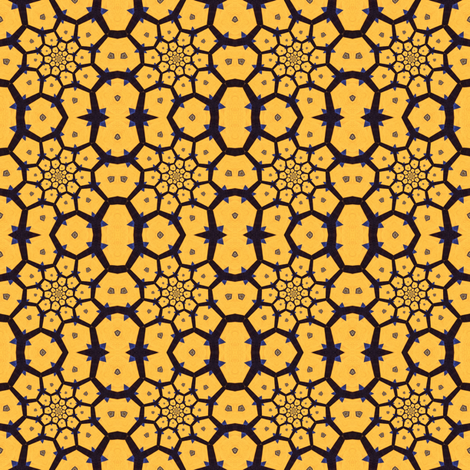 Modern Honeycomb fabric by ginascustomcreations on Spoonflower - custom fabric