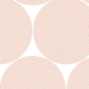 concentric circles - peach on white