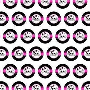 Circles Girly Skulls pink 8