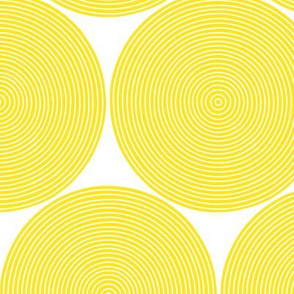 concentric circles - yellow on white