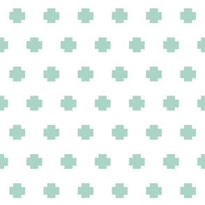 Plus signs in a row SMALL 301- seafoam