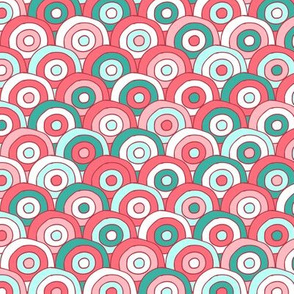 Concentric Circles (multi pink)