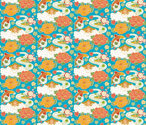 Tranquility3 fabric by julistyle on Spoonflower - custom fabric