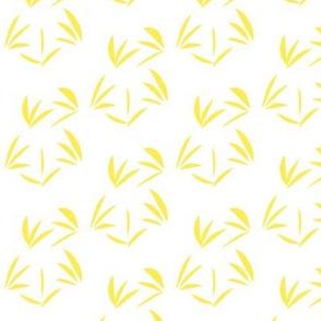 Lemon Fizz Oriental Tussocks on White - Small Scale