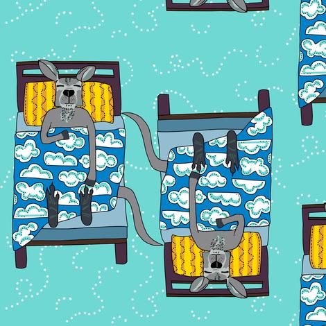 LEAD block blustery sky in dew: dream kangaroo fabric by kheckart on Spoonflower - custom fabric