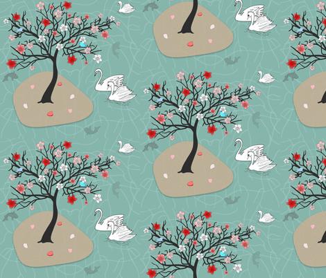 Garden Stroll fabric by mommy_brain_art on Spoonflower - custom fabric