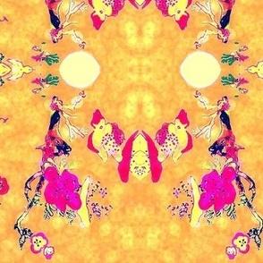 Japanese Flower Fuchsia Gold-ed