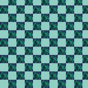 Blender dk Green     1 inch Check