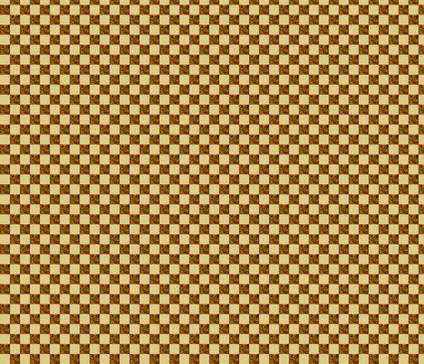 Blender tan half inch Check  fabric by koalalady on Spoonflower - custom fabric