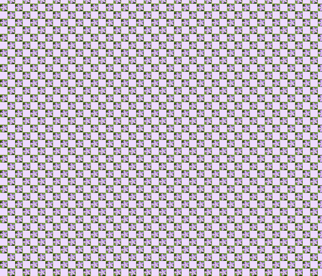Perwinkle Blue   1 half inch  Check fabric by koalalady on Spoonflower - custom fabric