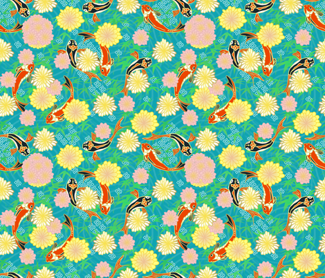 Jardin japonais fabric by un_temps_de_coton on Spoonflower - custom fabric