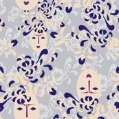 Kabuki Garden Blue_Miss Chiff Designs